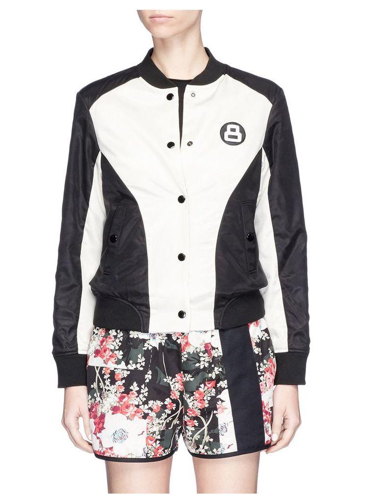'Morgan' floral print reversible bomber jacket