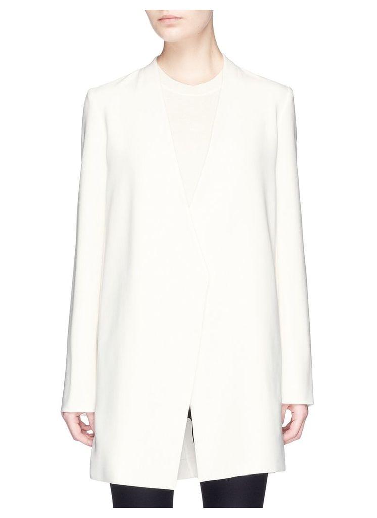 'Winola' collarless crepe blazer