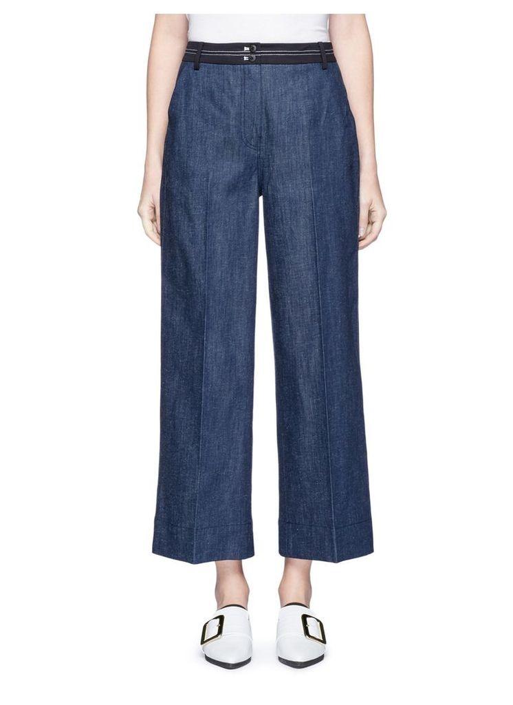 'Hudson' cropped wide leg denim pants