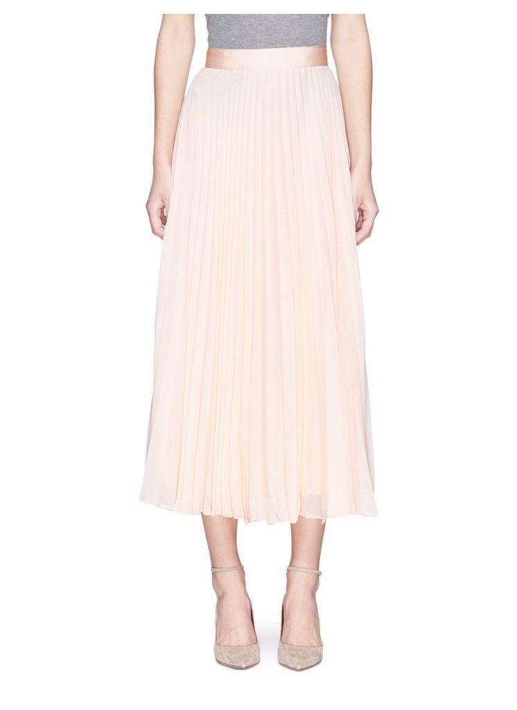 'Essie' pleated crépon midi skirt