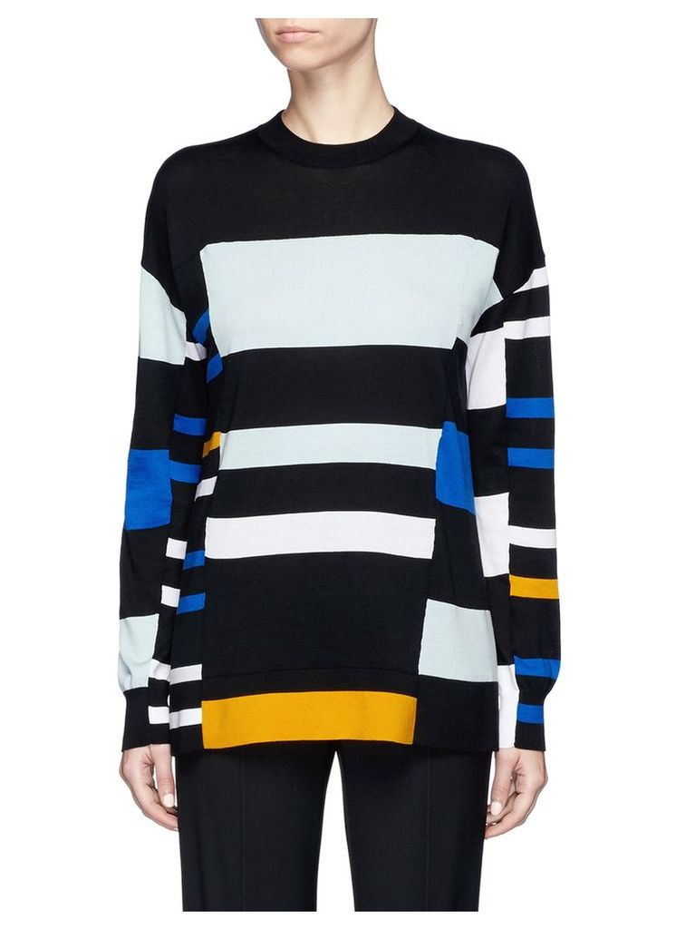 Stripe cotton blend sweater
