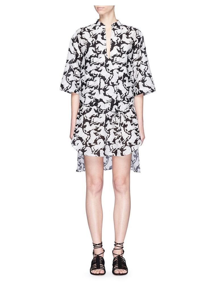 'Iconic Prints' horse cover-up shirt