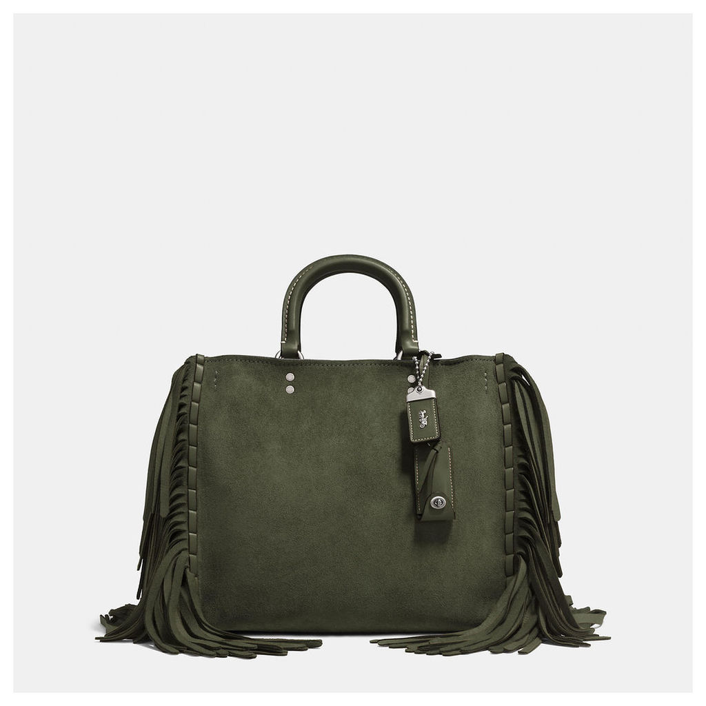 Coach Rogue In Cervo Suede With Fringe