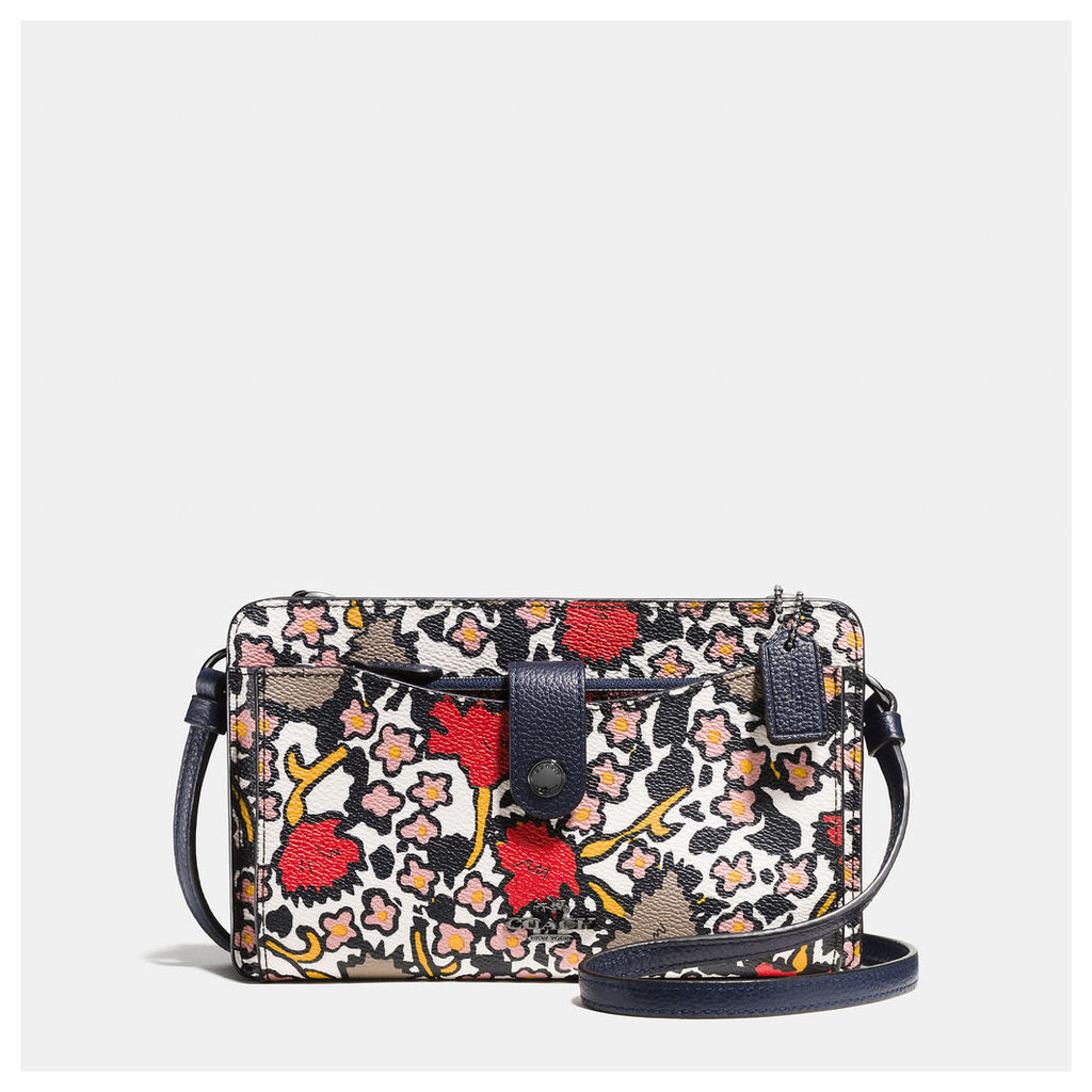 Coach Messenger With Pop-up Pouch In Mixed Yankee Floral Print Canvas