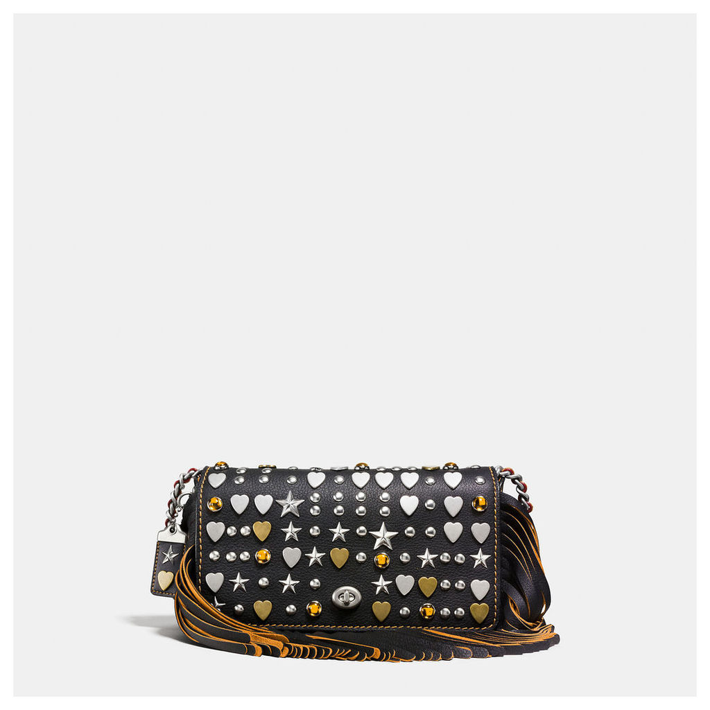 Coach Dinky In Very Natural Pebble Leather With Beatnik Rivets
