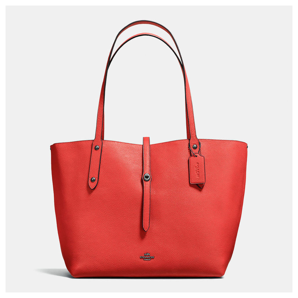 Coach Market Tote In Printed Pebble Leather