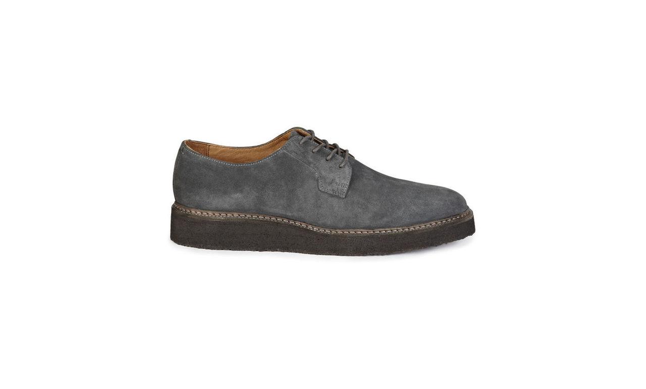 Crepe Sole Suede Derby Shoes