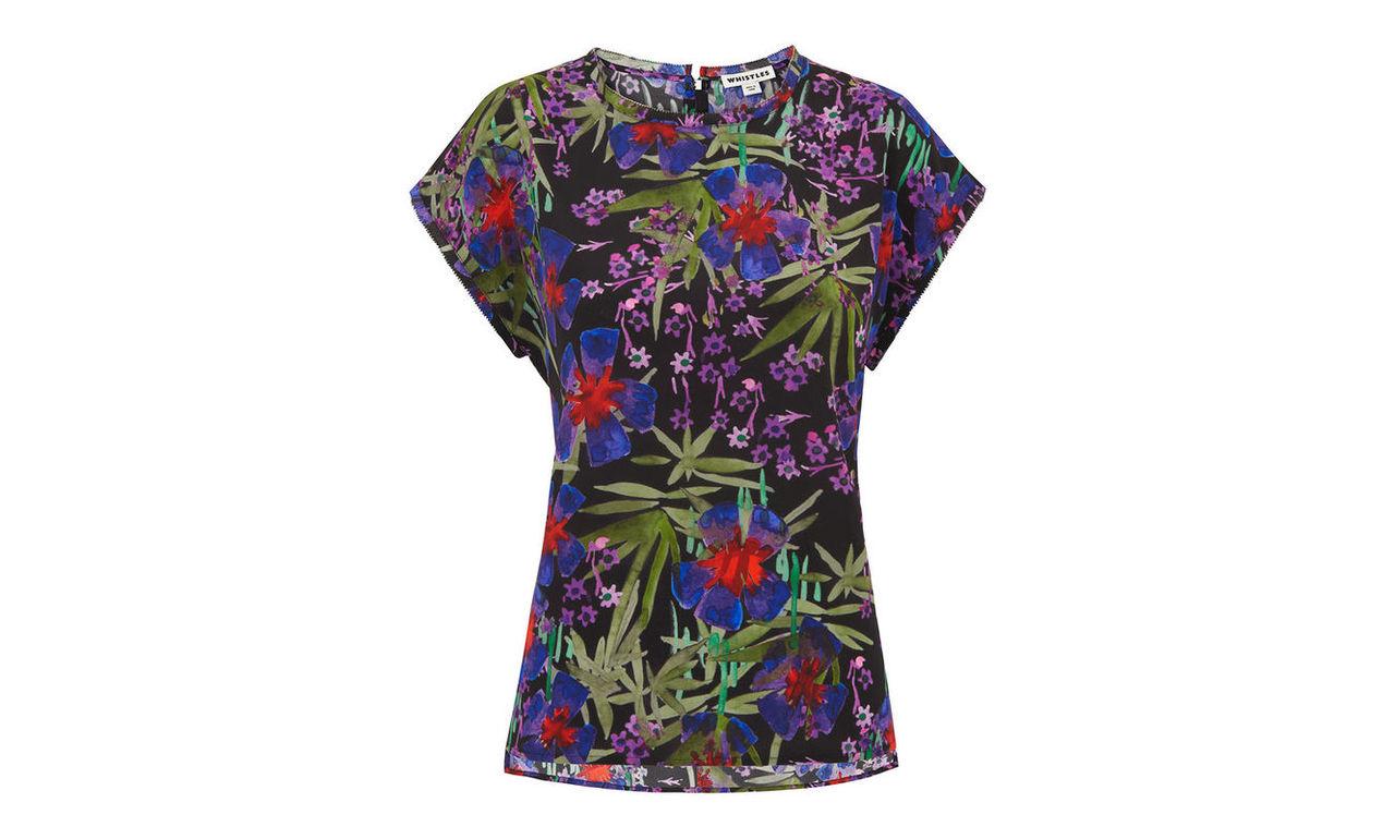 Floris Print Silk Top