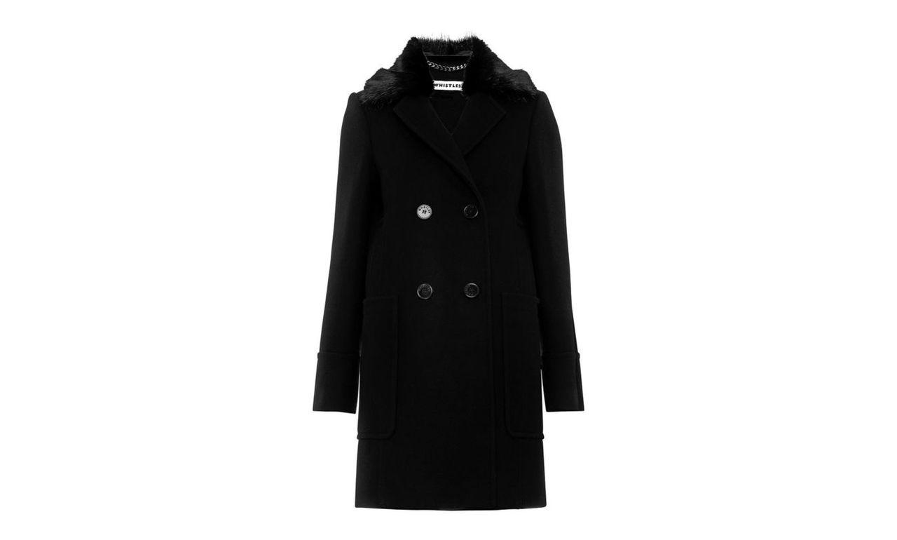 Trudie Fur Trim Coat