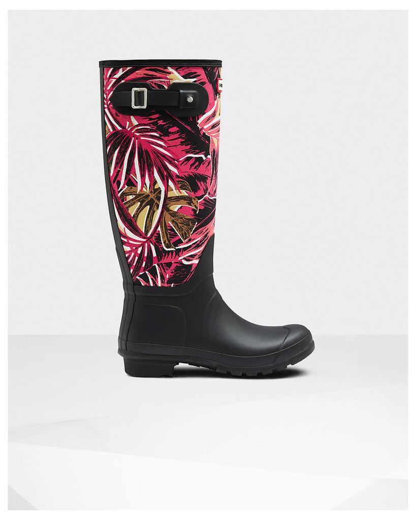 Women's Original Tall Jungle Print Canvas Wellington Boots