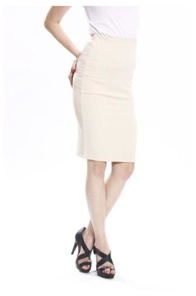 Classic Pencil Skirt With A Slit