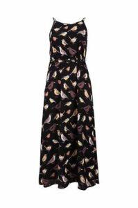 Plus Size Bird Print Maxi Dress