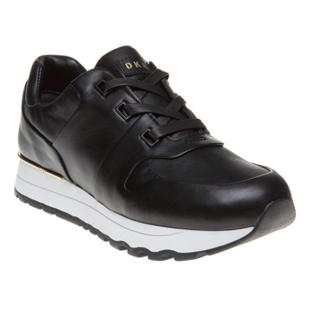 DKNY Jo Luxe Runner Trainers, Black
