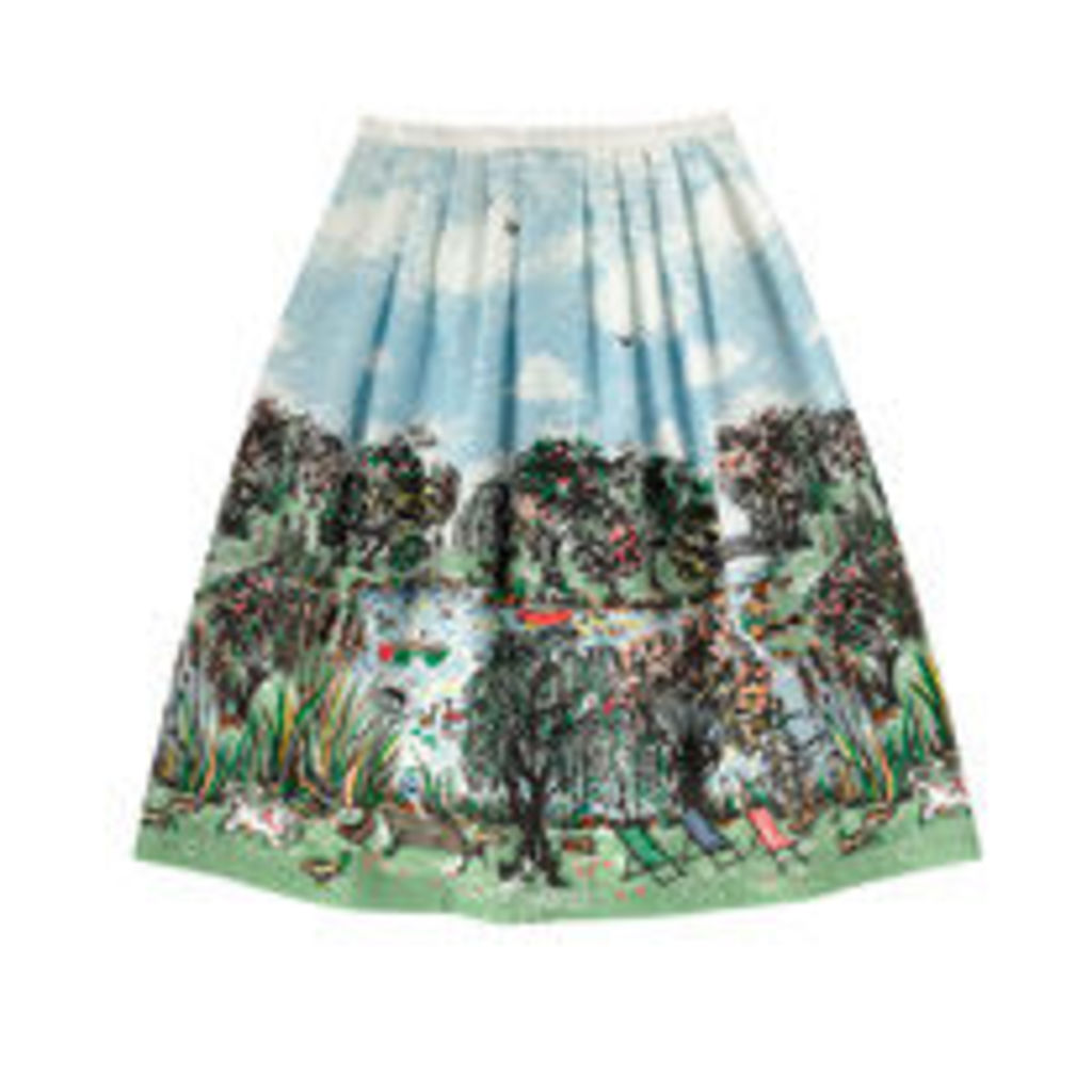 London Park Placement Cotton Skirt