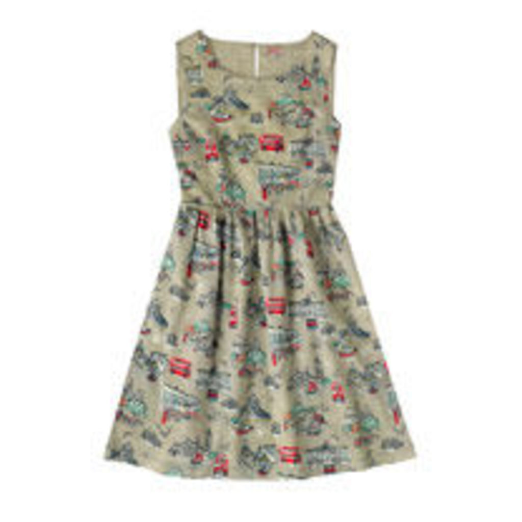 London Town Cotton Sleeveless Dress