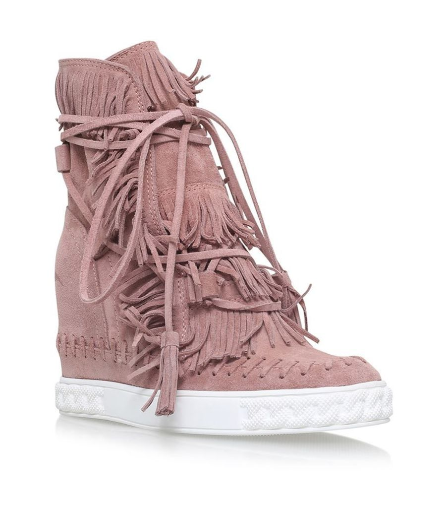 Casadei, Chaucer Radical Fringed Wedge Boots, Female