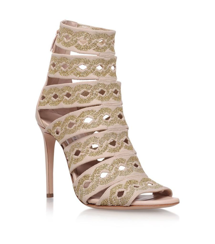 Casadei, Chain Knit Caged Heels 100, Female