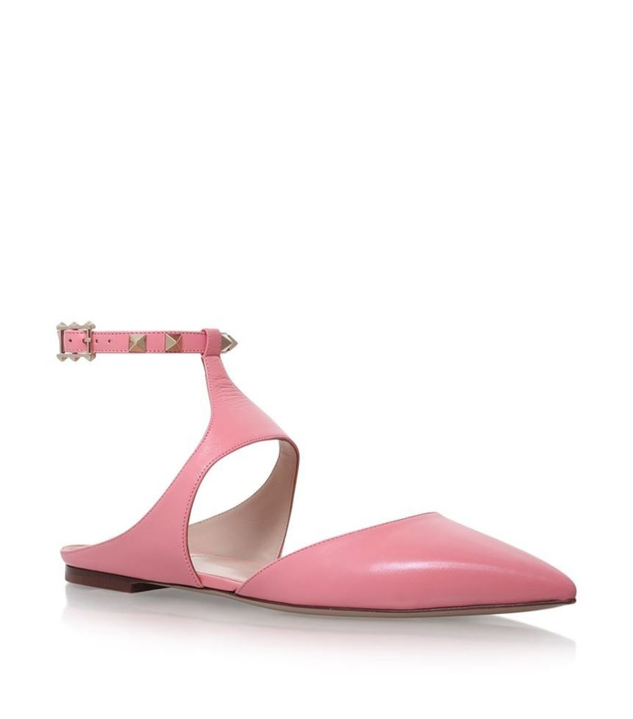 Valentino, Rockstud Ankle Flats, Female