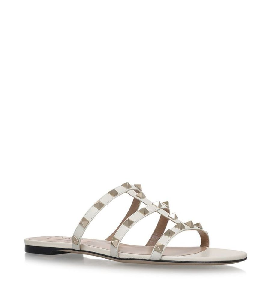 Valentino, Rockstud Slide Sandals, Female