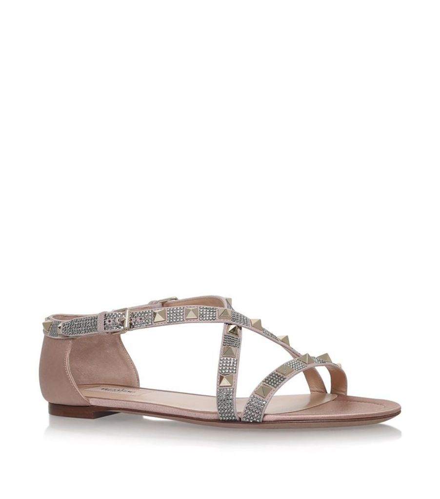 Valentino, Rockstud Flat Sandals, Female