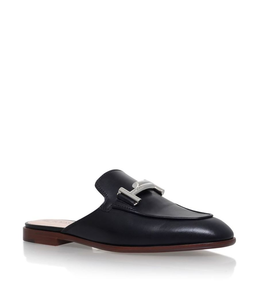 Tod'S, Doppia T Bar Slide Loafers, Female