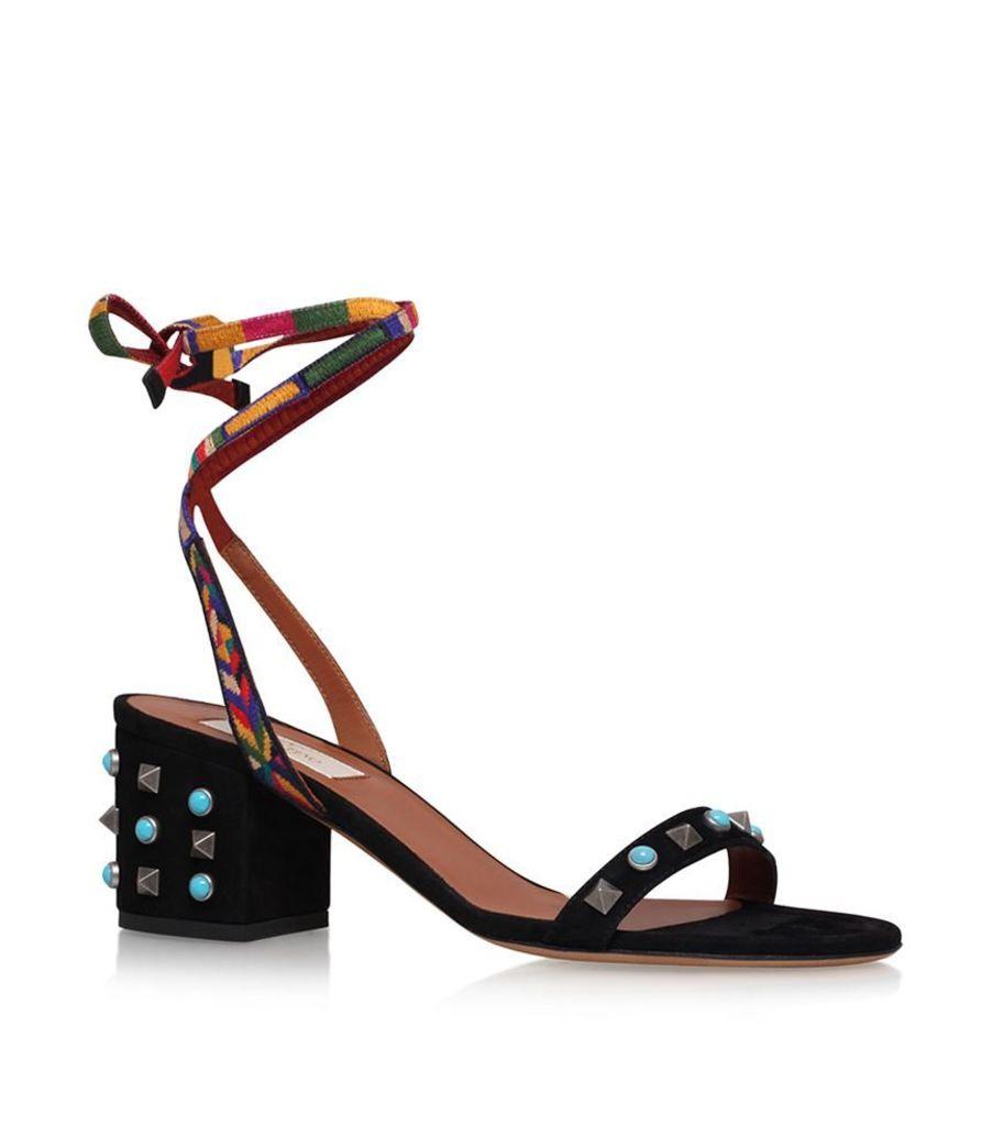 Valentino, Rockstud Lace-Up Sandals, Female