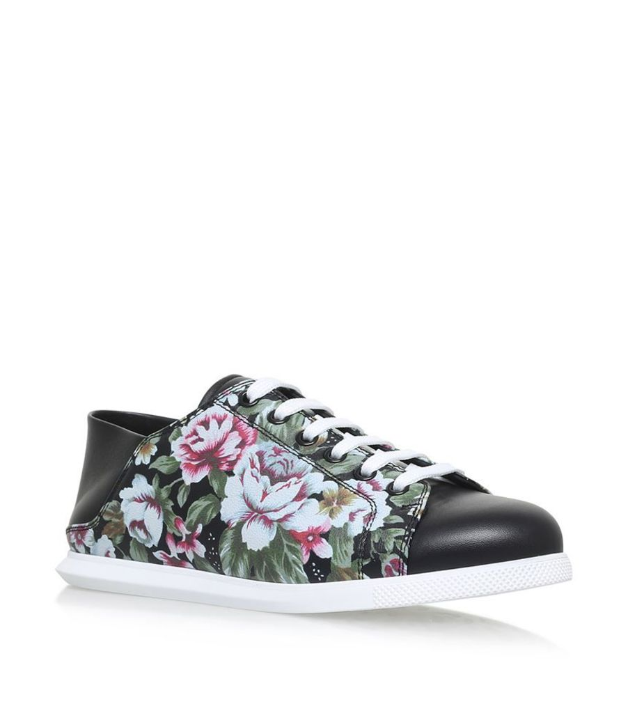 Alexander Mcqueen, Floral Lace Up Sneakers, Female
