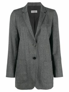Alberto Biani striped blazer - Grey