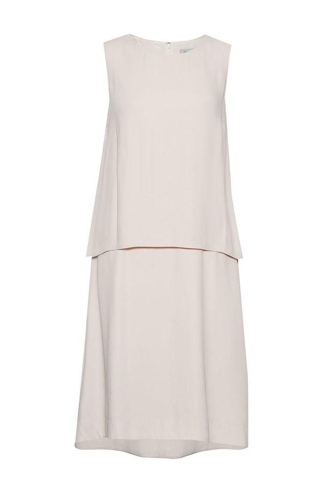 Great Plains Megan Crepe Double Layer Dress, Pink