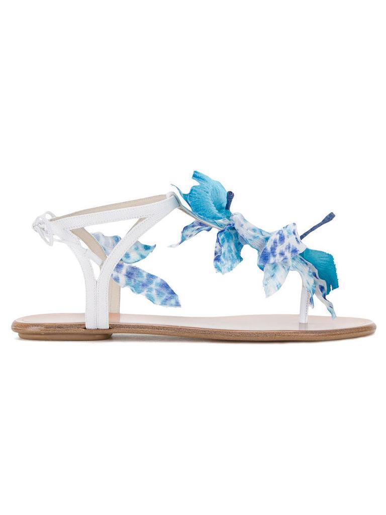 Aquazzura floral motif sandals, Women's, Size: 38, White
