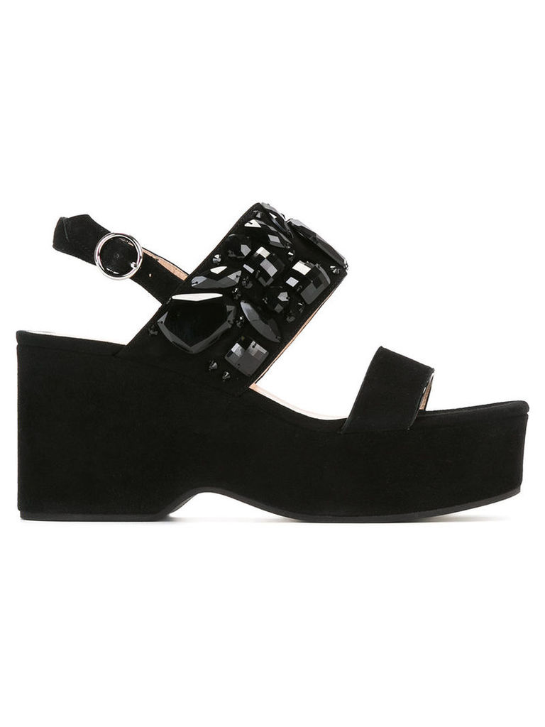 Marc Jacobs Lily embellished wedge sandals, Women's, Size: 35, Black