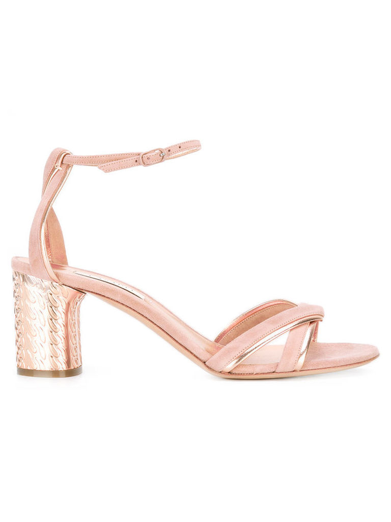 Casadei block heel sandals, Women's, Size: 40, Pink/Purple