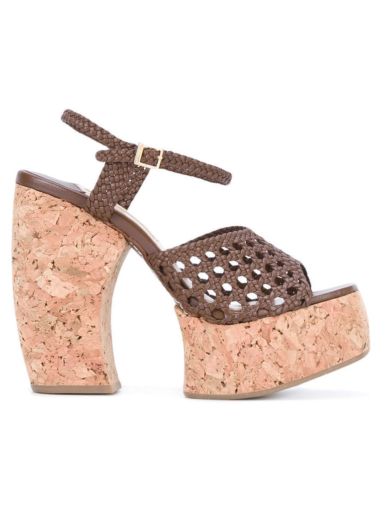 Paloma Barceló woven platform sandals, Women's, Size: 40, Brown