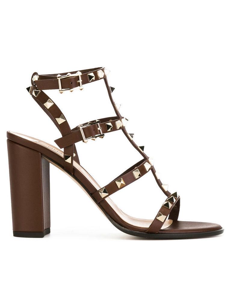 Valentino Valentino Garavani 'Rockstud' strap sandals, Women's, Size: 37.5, Brown