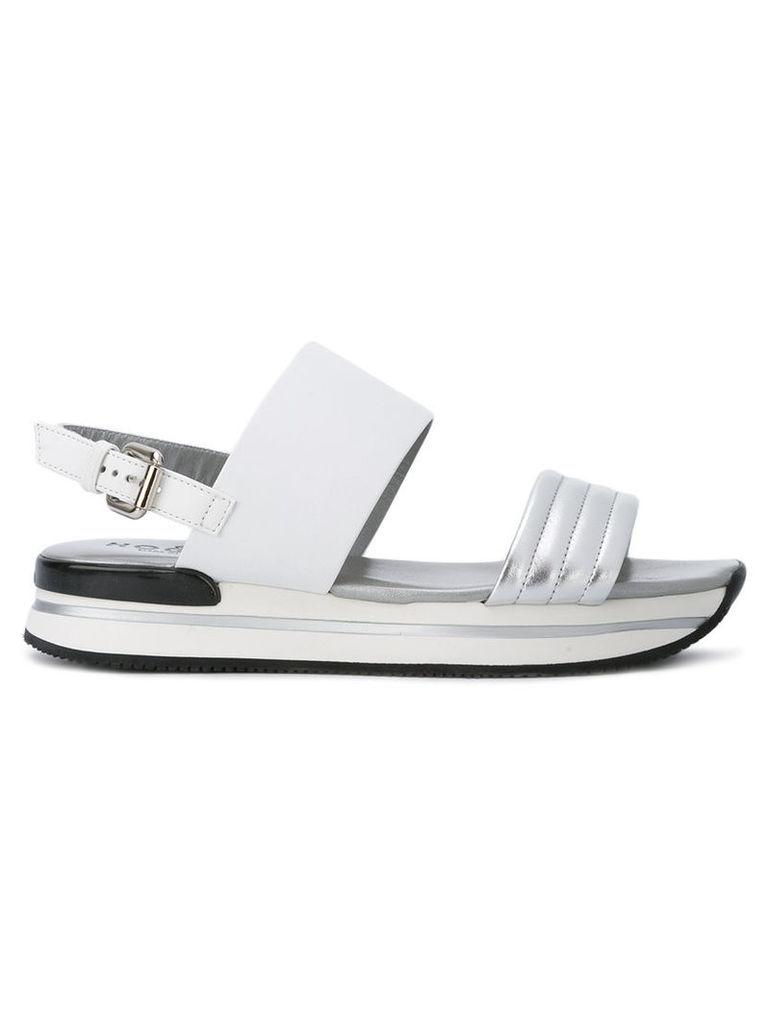 Hogan platform sling-back sandals, Women's, Size: 40, Grey