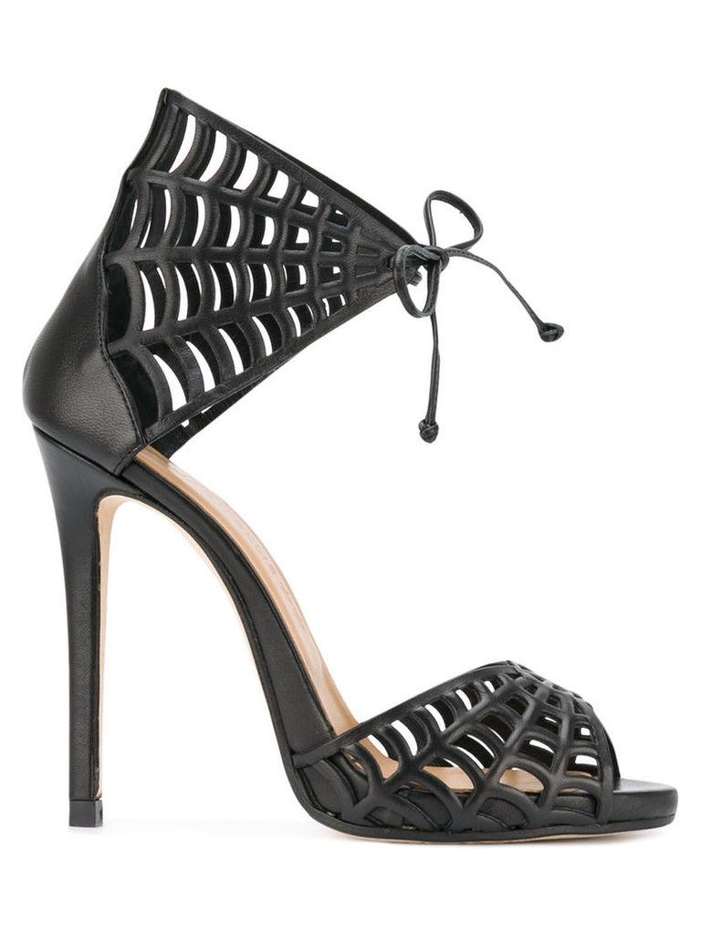 Marc Ellis web motif stiletto sandals, Women's, Size: 40, Black