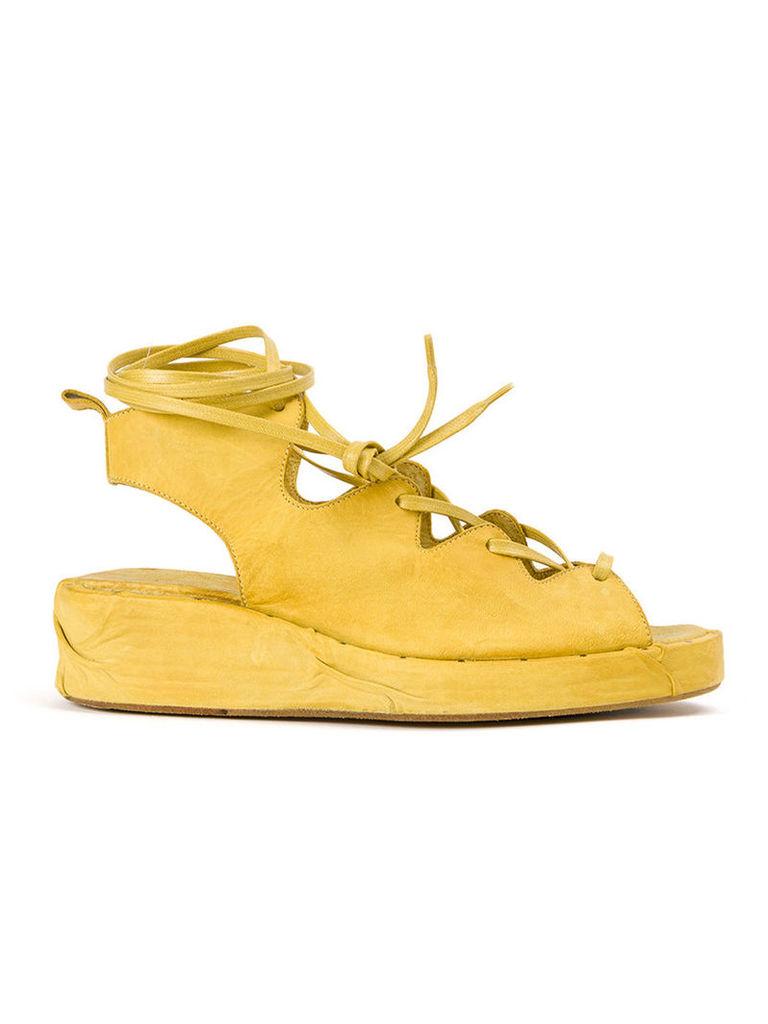 Masnada lace up sandals, Women's, Size: 38, Yellow/Orange