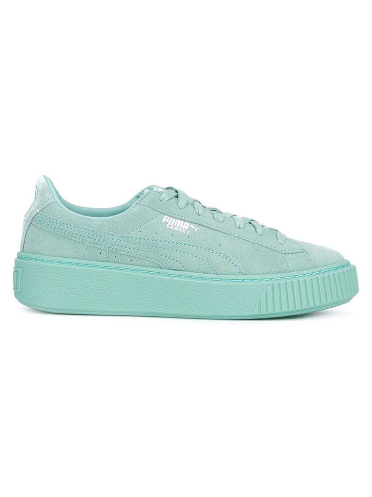 Puma Basket platform reset sneakers, Women's, Size: 6, Green