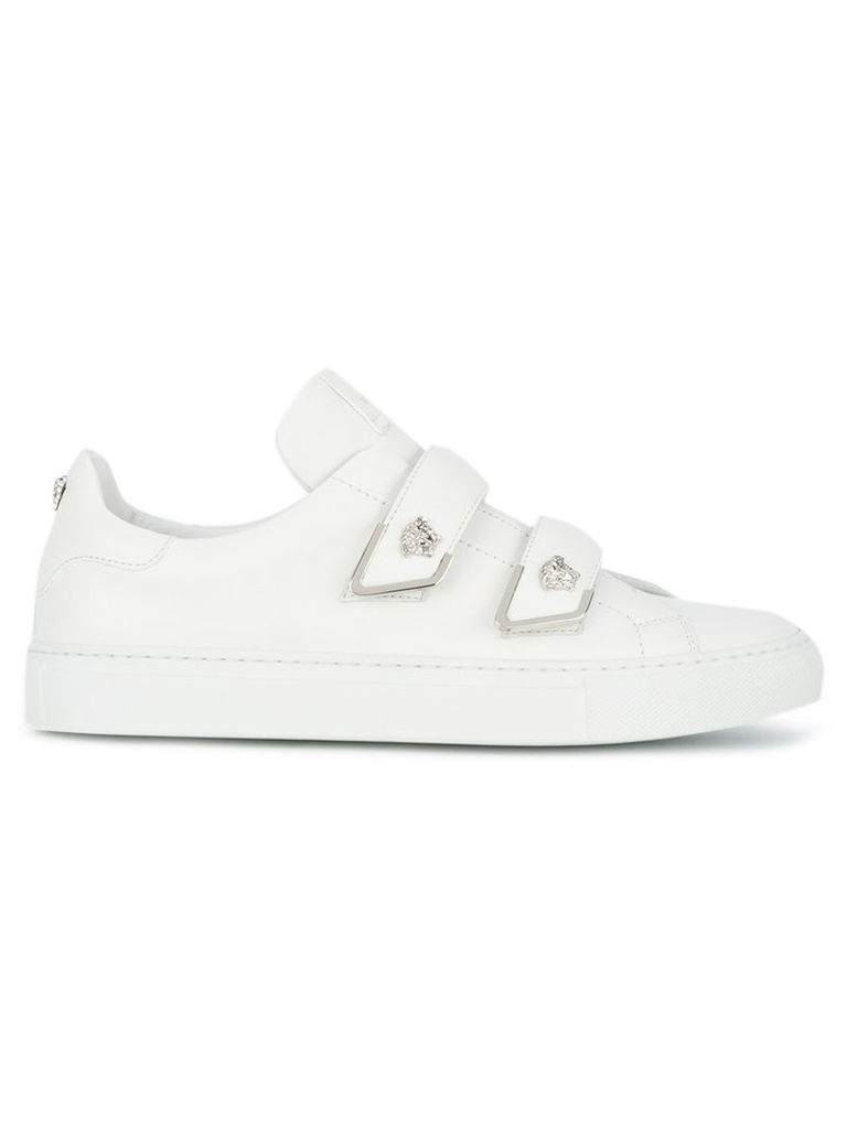 Versace touch strap mid-top trainers, Women's, Size: 38, White