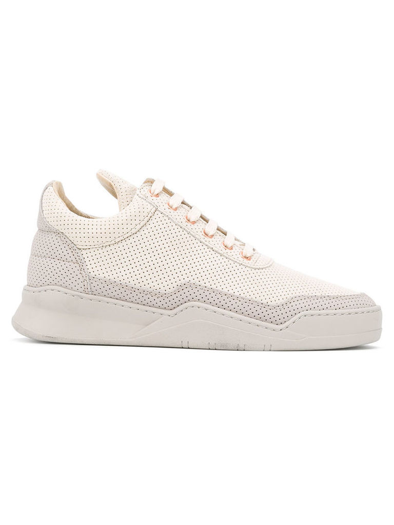 Filling Pieces perforated sneakers, Women's, Size: 40, Nude/Neutrals