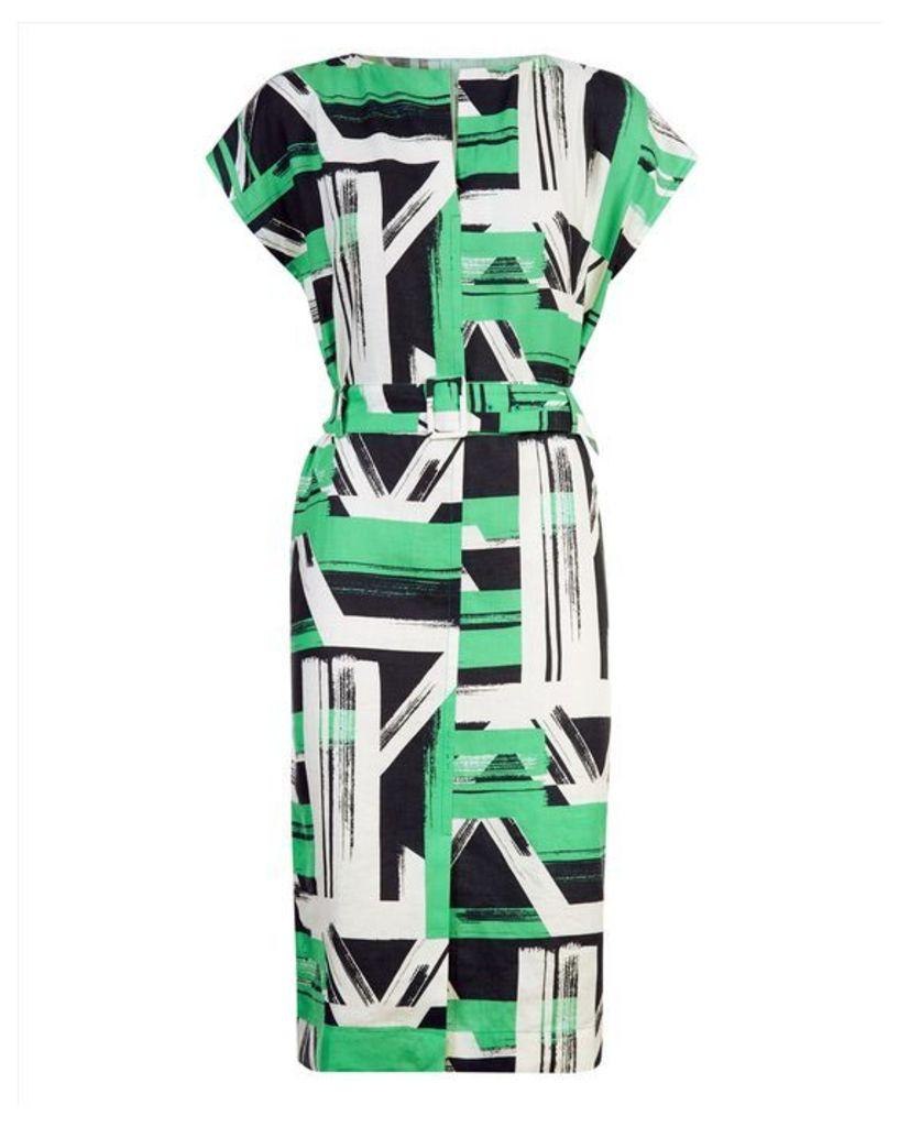 Linen Slash Neck Dress