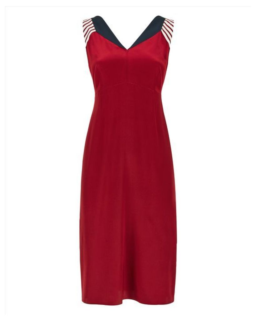 Silk Colour Block Panel Dress