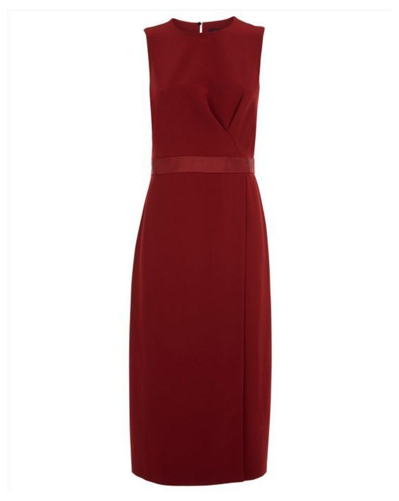Belt Detail Drape Dress