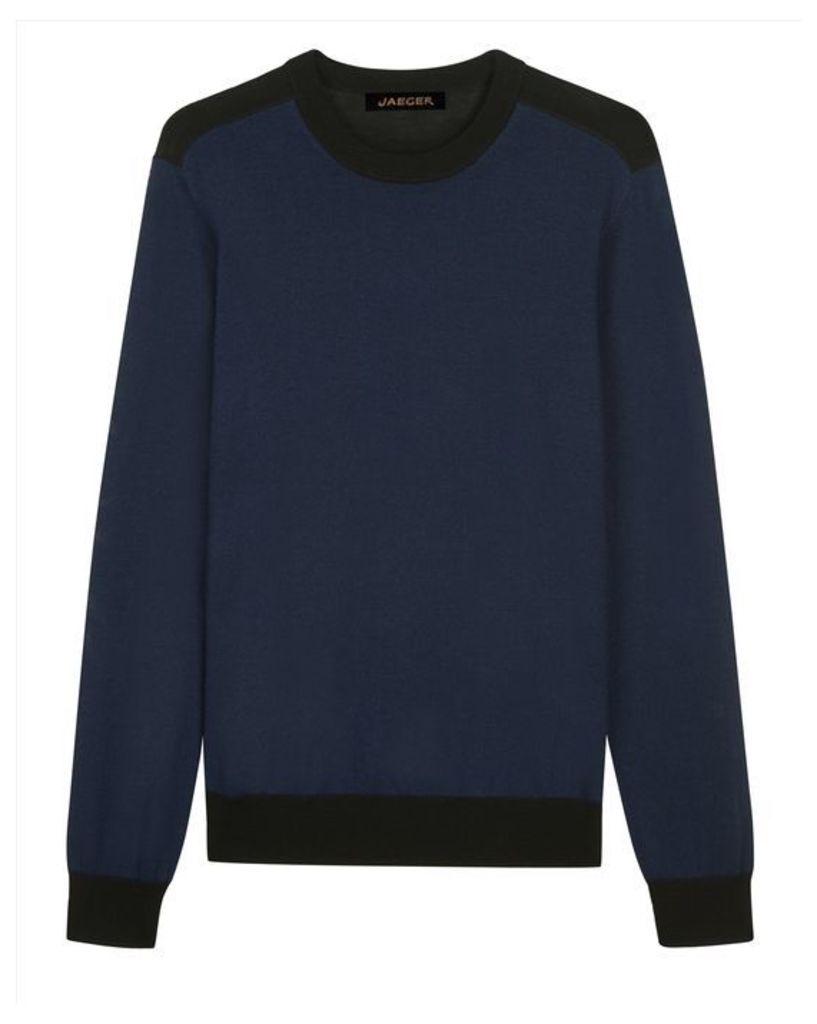 Merino Colour Block Sweater