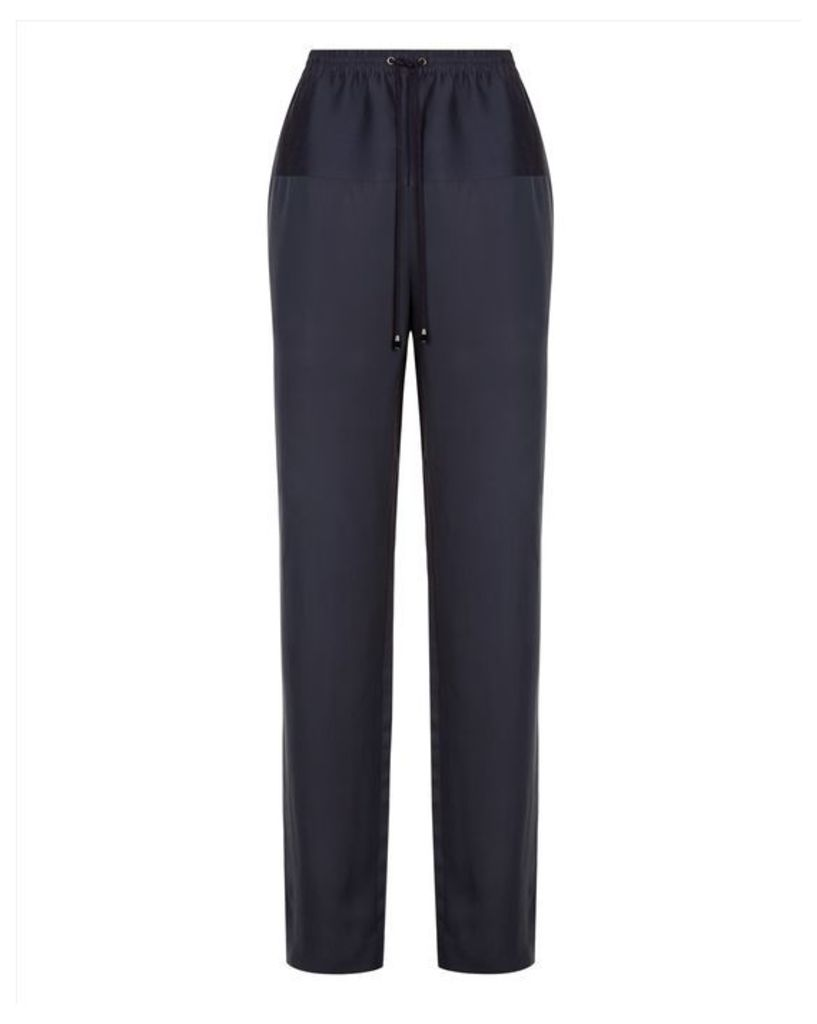 Contrast Fabric Trousers