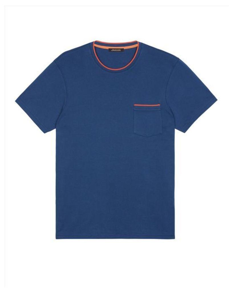 Cotton Contrast Trim T-Shirt