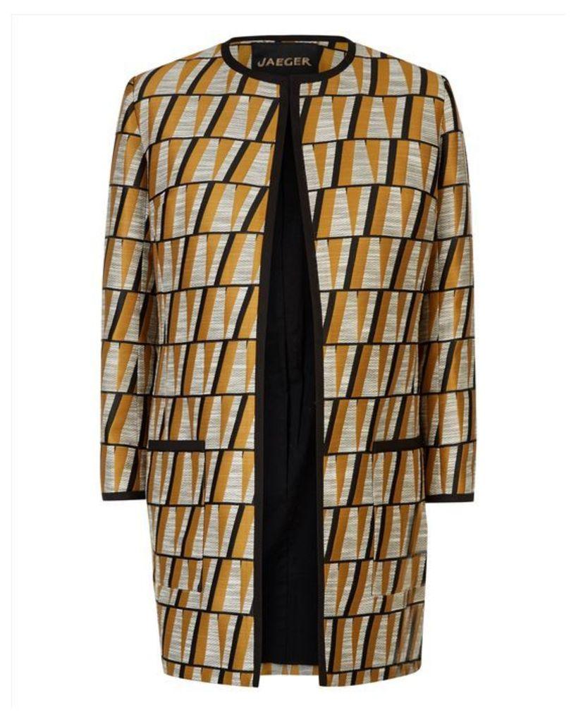 Graphic Jacquard Coat