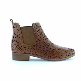 Zola Openwork Leather Ankle Boots
