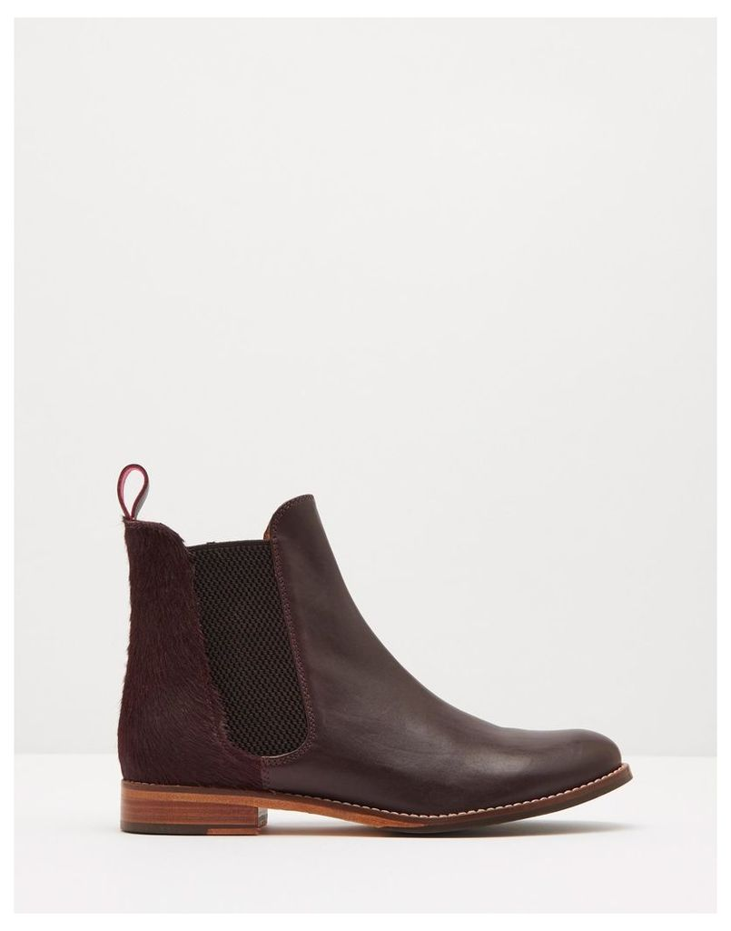 Oxblood Westbourne Leather Chelsea Boots  Size Adult Size 5 | Joules UK