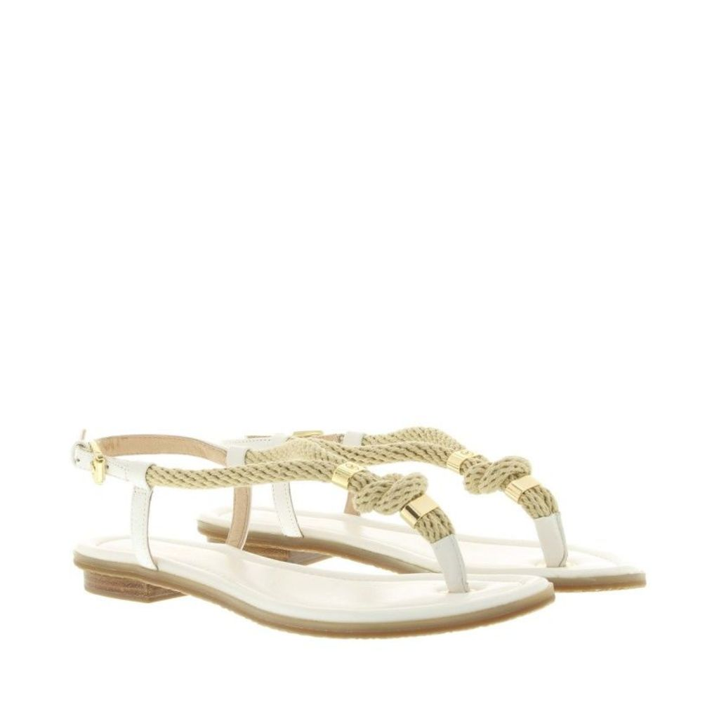 Michael Kors Sandals - Holly Rope Trim Leather Sandal Optic White - in white - Sandals for ladies